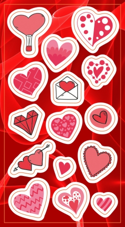 Stickers.   Hearts