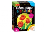 Decoupage & painting. Red Tulips