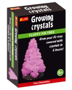 Fir tree with crystals. Pink
