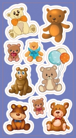 Stickers.   Bears