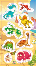 Stickers.  Dinosaurs