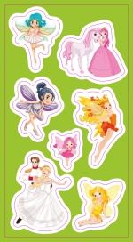 Stickers.  Fairies, Princesses