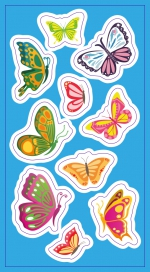 Stickers. Butterflies