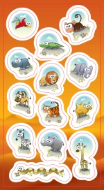 Stickers.  Animals