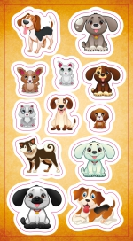 Stickers.  Dogs